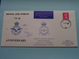 ROYAL AIR FORCE > 75th Anniversary ( 1918-1993 ) 1 Apr 1993 ( Zie / See Photo > Signed/Certified Cover N° 203 Of 249 ) ! - Militaria