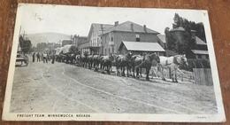 Winnemucca, Nevada ~ Freight Train ~ B&W Photo Postcard - Andere