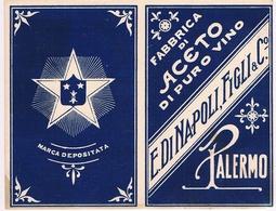 B3297- Palermo,Isola Delle Femmine Biglietto Fabbrica Di Aceto E. Di Napoli Figli E C. Perfetto - Cartes De Visite