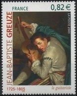 FRANCE Poste 3835 ** Tableau Jean-Baptiste GREUZE : Le Guitariste - Art