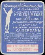 Baden-Baden: Hygiene-Messe Reklamemarke - Cinderellas