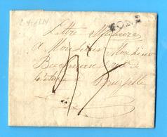 België 1814 :  BRIEF/LETTRE 1814 MONS-BRUXELLES. GRIFFE NOIR : MONS.  Ft. : 25,20 X 21,20 Cm. ( 4 Blz. ). - 1814-1815 (Gen.reg. Belgien)