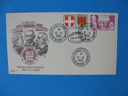 FDC France 8/61951 N° 897 Hommage à La Médecine Vétérinaire Cachet Journée Vétérinaire Alfort - Bouley Nocard Chauveau - 1950-1959