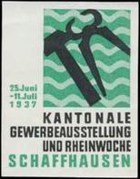 Schaffhausen: Gewerbeausstellung Reklamemarke - Vignetten (Erinnophilie)