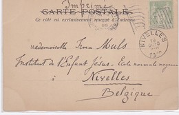 CP -  EXPO UNIVERSELLE Drapeau Simple - Marcophilie (Lettres)