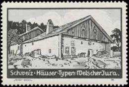Basel: Haus Welscher Jura Reklamemarke - Erinnofilie