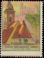 Pozsony: Besuchet Pozsony-Pressburg Reklamemarke - Cinderellas
