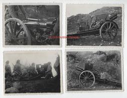 5 Photos-1938-transport Des Armes Par Des Mulets Dans Les Montagnes-canon-n°3 - War, Military