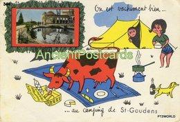 344  France Saint Gaudens - Circulado Em 25/09/1969 Com Selo - Saint Gaudens