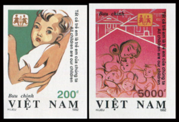 Vietnam 1992  YT 1355-56 Nd ; Mi# 2487-88  (*) MNG  Imperforate - Vietnam