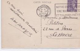 CP  BORDEAUX  1939 - Oblitérations Mécaniques (flammes)