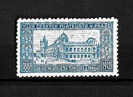 Checoslovaquia 1912 Clob De Filatelicos Checos De Praga - Tchécoslovaquie
