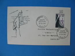 FDC France 24/4/1953  N° 941  Mannequin En Robe De Soirée Et Place Vendôme à Paris Cachet Haute Couture Paris - FDC