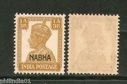India NABHA State KG VI 1A3p SG 109 / Sc 104 MNH Fine - Nabha