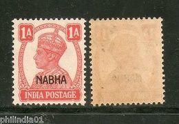 India Nabha State 1An KG VI Postage Stamp SG 108 / Sc 103 MNH - Nabha