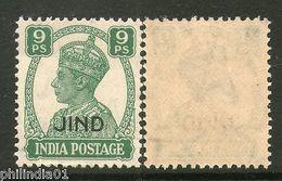 India JIND /JHIND KG VI 9ps SG 139 / Sc 167 MNH Fine - Jhind