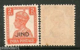 India JIND /JHIND / JEEND State KG VI 2As SG 143 / Sc 171 Postage MNH - Jhind