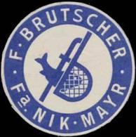 F. Brutscher Reklamemarke - Cinderellas