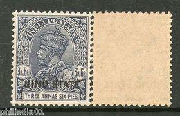 India JIND / JHIND / JEEND KG V 3�As Postage Stamp SG 93 / Sc 130 Cat �7 MNH - Jhind