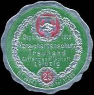 Leipzig: Versichertenschutz - Versicherung Reklamemarke - Cinderellas