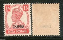 India CHAMBA State KG VI 1An Postage Stamp SG 111 / Sc 92 Cat �3 1v MNH - Chamba
