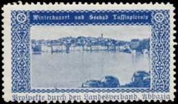 Lussinpiccolo: Winterkurort Und Seebad Reklamemarke - Vignetten (Erinnophilie)