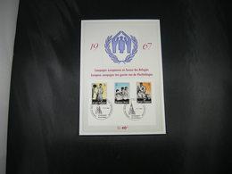 """BELG.1967 1410 1411 & 1412  FDC Fhila Card (Schaarbeek)  : """" Vluchtelingen / Réfugiés  """" - FDC"""