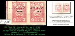 EARLY OTTOMAN SPECIALIZED FOR SPECIALIST, SEE...Mi. Nr. 752 - Mayo 111 Aqv - Teilgezähntes Paar -RR- - 1920-21 Anatolie