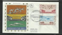 Monaco  FDC Inauguration Du Stade Louis II 23.5.1985 - Postzegels