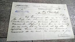 Facture Document Grignon Frères Et Soeurs Grandes Galeries Universelles Fontenay Le Comte 1924 - France