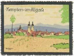 Kempten Im Allgäu In Bayern Reklamemarke - Cinderellas