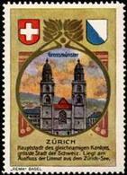 Basel: Grossmünster - Zürich Reklamemarke - Erinnophilie
