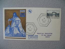 FDC France 10/7/1954  N° 988  Grille D'entrée Du Château De Versailles  Cachet Versailles - FDC