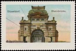 Düsseldorf: Rheinbrücke Reklamemarke - Cinderellas