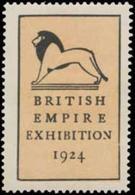 London: British Empire Exhibition Reklamemarke - Erinnofilie