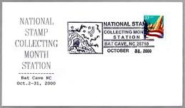 National Stamp Collecting Month - MURCIELAGOS - BATS. Bar Cave NC 2000 - Chauve-souris