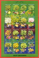 Libya 1995.Fruits Of Libya. Full Sheet. Unused Stamps. - Fruits