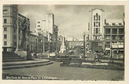 STA. CRUZ DE TENERIFE PLAZA DE LA CANDELARIA ~ AN OLD REAL PHOTO POSTCARD #82918 - Tenerife
