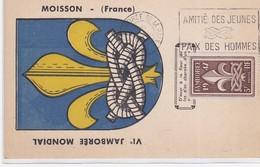 CP -  JAMBOREE DE LA PAIX / 2.8.47 - Marcophilie (Lettres)
