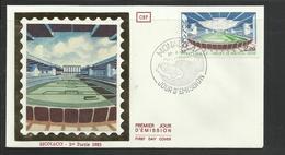 Monaco  FDC Projet Nouveau Stade  Fontvieille  Ref  28 - Postzegels