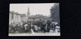 Cp 32 PLIEUX Fête Du 17 Avril 1911 Cortège En L'honneur De Jeanne D'Arc  ( Batiment Habitations église ) - Auch