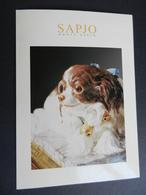 8g) CARTONCINO AUGURALE 2001 CASA D'ASTE NEGOZIO ANTIQUARIATO SAPJO MONTE CARLO CON FIRMA AUTOGRAFO - Altre Collezioni