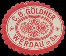 Werdau/Sa.: C.B. Göldner Reklamemarke - Cinderellas