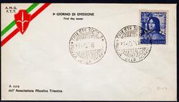 Trieste AMG-FTT 49, Lorenzo Il Magnifico,  FDC Non Viaggiata (04854) - 7. Trieste