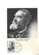 Carte Maximum 1959 Jean Jaures - Maximumkaarten