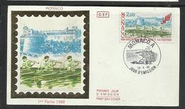 Monaco FDC Aviron  26.5.1988  Ref  32 - Roeisport