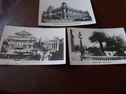 B720  3 Cartoline Buenos Aires Cm14x9 Pieghine Angoli - Argentina