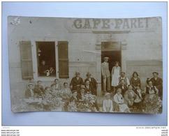 Carte Photo De SAINT ETIENNE   : CAFE PARET , Rue Marengo       …GL-1540 - Saint Etienne