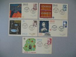FDC France  6/5/1954  N° 970 à 974  Productions De Luxe Cachet Métiers D'Art Paris Tapisserie Reliure Porcelaine ... - FDC