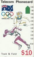 TARJETA TELEFONICA DE AUSTRALIA, BARCELONA 1992 - Track & Field (N91044-3-2). AUS-M-052a. (096) - Juegos Olímpicos